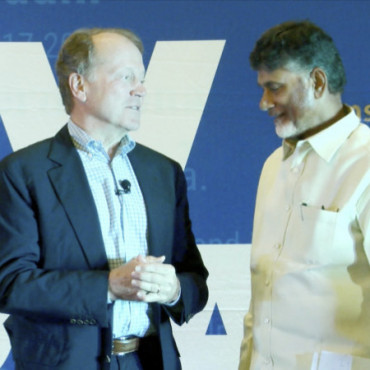 John Chambers is keynote at 'New India Lecture' series in NY
